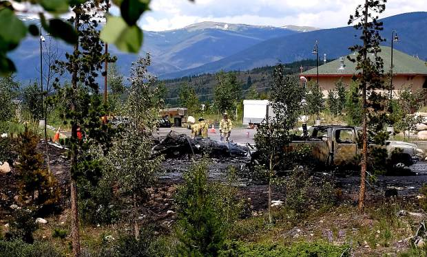 A view of the crash scene from a trail behind St. Anthony Summit Medical Center. NTSB released a preliminary report of the investigation on Thursday, July 9.