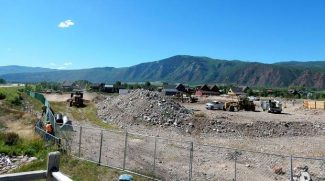 Shaw Constructon mobilized this week at site where a 113-room hotel will be bult in Willits Town Center.