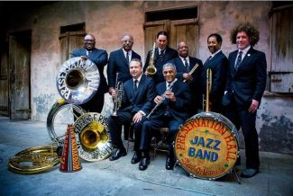 New Orleans octet Preservation Hall Jazz Band returns to Aspen tonight for a show at Belly Up. From left are Ronell Johnson, Rickie Monie, Mark Braud, Clint Maedgen, Charlie Gabriel, Joseph Lastle, Jr., Freddie Lonzo and Ben Jaffe.