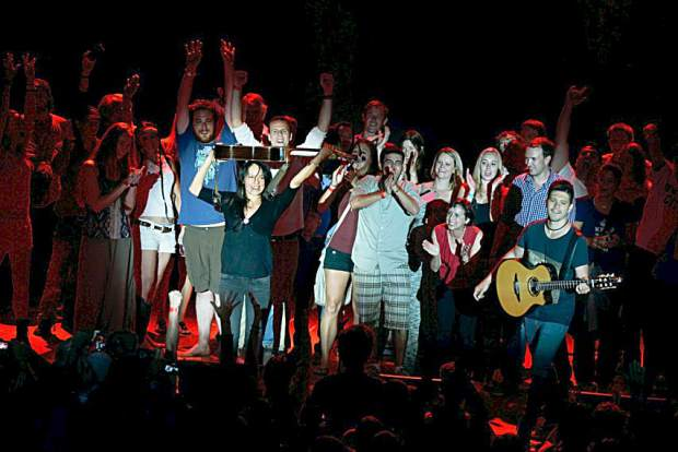 Rodrigo y Gabriela invited audience members on stage Sunday night at the JAS June Experience.