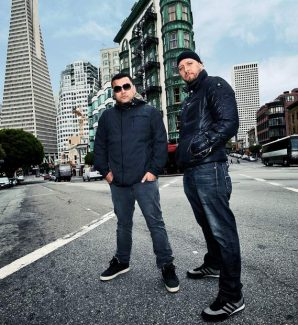 """Northern California hip-hop duo Latyrx, with rappers Lyrics Born, left, and Lateef the Truthspeaker, play Sunday at Belly Up. Latyrx's second album, titled """"The Second Album,"""" will be released on Nov. 5."""