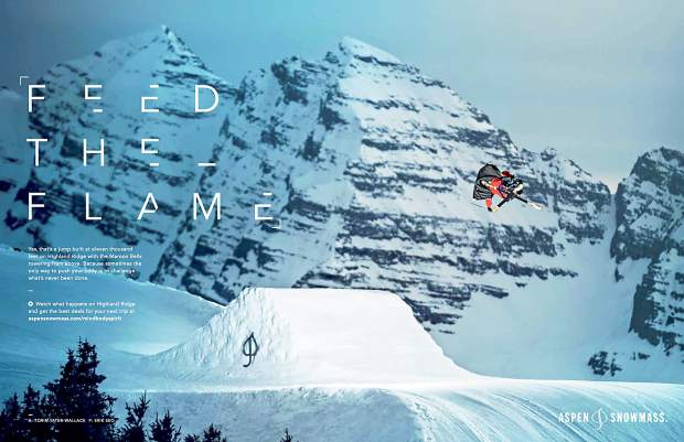 One advertisement in Aspen Skiing Co. s new campaign features Aspen  freestyle skier Torin Yater-Wallace launching off a ramp at Aspen Highlands. a15a51ee4c89