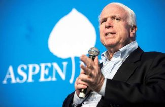 U.S. Sen. John McCain, R-Ariz., speaks about topics including ongoing clashes in Egypt, Secretary of State John Kerry's current role, and the state of refugee camps after the Arab Spring, during a Hurst Lecture Series event at the Greenwald Pavilion at the Aspen Institute on Wednesday.