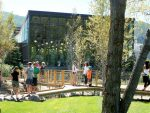 Visitors checked out Midland Park when it opened in September on the north side of the Basalt Regional Library. Proponents of the library say it needs an economic boost to maintain services and staffing.