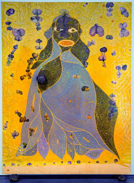 Chris Ofili's The Holy Virgin Mary returns to London