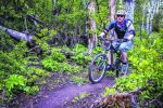 Josh Fanshel climbs the Airline Trail into Sky Mountain Park last spring. Sky Mountain Park gets heavy use because it dries out faster than other upper valley routes. A new loop off the Rim Trail could ease congestion by the end of this summer.