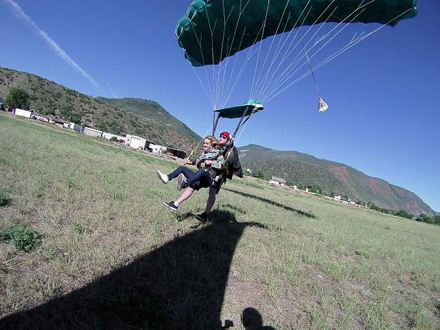 A first-time skydiver learns to live in the moment, going from panic to peace
