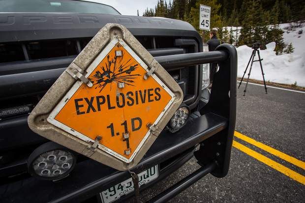 Avalanche mitigation crews brought various sized bombs for blasting in potentially dangerous terrain.  The use of explosives allows crews to cover a wide array of terrain in an efficient and timely manner.
