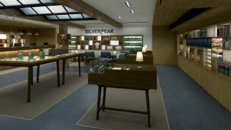 An artist's rendition shows what the scheduled Silverpeak remodel will look like, featuring twice as much space in the cannabis sales area and several stations with educational materials available.