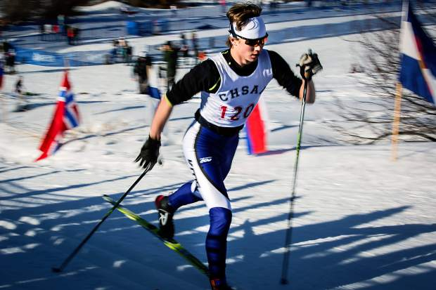 Ian Hardenbergh of Vail Mountain competes in the 5K Thursday in Aspen.