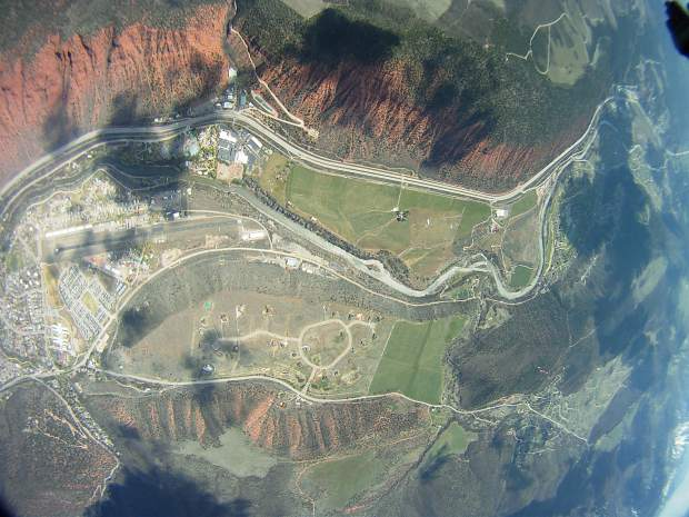 Glenwood Springs from above.