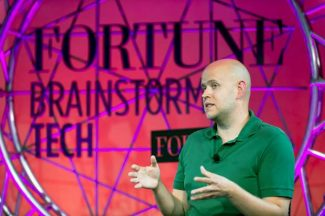 Daniel Ek, of Spotify, discussed his company and the music industry on Wednesday at the Fortune Brainstorm Tech conference at Aspen Meadows. Spotify, which today has 40 million users, launched three years ago this week.