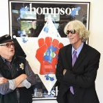 """Ralph Steadman (left) with former Pitkin County Sheriff Bob Braudis at the Gonzo Gallery. Steadman, Braudis and attorney Gerry Goldstein spoke Saturday night during a """"Liberty Salon"""" event at the gallery."""