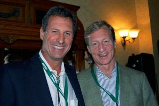 AREDAY founder Chip Commins (left) announced Monday that NextGen Climate founder Tom Steyer will speak at the 11th American Renewable Energy Day Summit, scheduled Aug. 10-13 in Aspen.