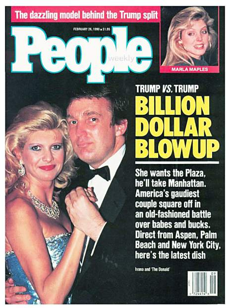 Donald and Ivana Trumps' big-time divorce was the stuff of tabloids ...