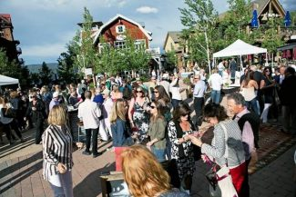 The Food & Wine Kickoff Party on June 18 was one of several new events in Base Village this summer.