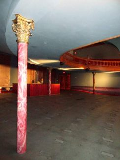 Gram Slaton said acoustics, particularly under the balcony, will be greatly improved with the Wheeler Opera House renovation.