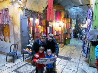 The Levy family of Aspen had a copy of The Aspen Times when they visited the marketplace of the Old City in Jerusalem. Shown are parents Georgina and Alan, along with sons Nathan (left) and Aaron. If you have a photo of you and/or your friends or relatives with a copy of The Aspen Times in a faraway spot (west of the roundabout or east of Difficult Campground will do), send it to rcarroll@aspentimes.com, and look for it in an upcoming Sunday edition.