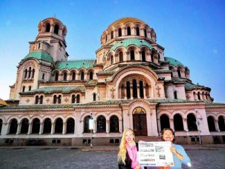 Snowmass Villagers Jennifer Nicholas and Krasen Daskalov recently visited Alexander Nevsky Cathedral in Bulgaria, with a copy of The Aspen Times in tow. If you have a photo of you and/or your friends or relatives with a copy of The Aspen Times in a faraway spot (west of the roundabout or east of Difficult Campground will do), send it to rcarroll@aspentimes.com, and look for it in an upcoming Sunday edition.