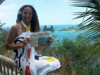 Deanne Vitrac-Kessler, longtime Aspen resident, holds up a copy of The Aspen Times in front of Hen Rock in New Caledonia, South Pacific. If you have a photo of you and/or your friends or relatives with a copy of The Aspen Times in a faraway spot (west of the roundabout or east of Difficult Campground will do), send it to rcarroll@aspentimes.com, and look for it in an upcoming Sunday edition.