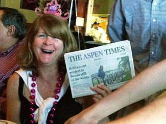 Local kindergarten teacher Laura Francis recently celebrated her 50th birthday with her Aspen Times just slightly north of King Street in Charleston, S.C. If you have a photo of you and/or your friends or relatives with a copy of The Aspen Times in a faraway spot (west of the roundabout or east of Difficult Campground will do), send it to rcarroll@aspentimes.com, and look for it in an upcoming Sunday edition.