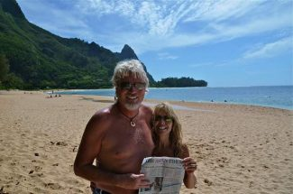 "Bob and Becky Helmus, of Old Snowmass, enjoyed The Aspen Times at the Tunnels on the North Shore of Kauai. ""The best diving and snorkeling spot on the island,"" the couple reported. If you have a photo of you and/or your friends or relatives with a copy of The Aspen Times in a faraway spot (west of the roundabout or east of Difficult Campground will do), send it to rcarroll@aspentimes.com, and look for it in an upcoming Sunday edition."