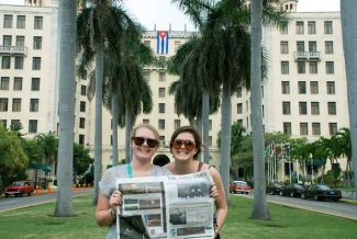 Jacqueline Jones and Mary Claire Craig stand in front of the Hotel Nacional in Habana, Cuba. If you have a photo of you and/or your friends or relatives with a copy of The Aspen Times in a faraway spot (west of the roundabout or east of Difficult Campground will do), send it to rcarroll@aspentimes.com, and look for it in an upcoming Sunday edition.