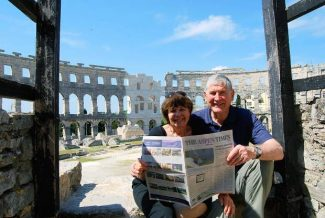 Local couple  Jeanette Darnauer and Rob Merritt recently took a trip to Croatia and Bosnia. The two brought a copy of The Aspen Times to the amphitheater is in Pula, Croatia, which is 2,000 years old.