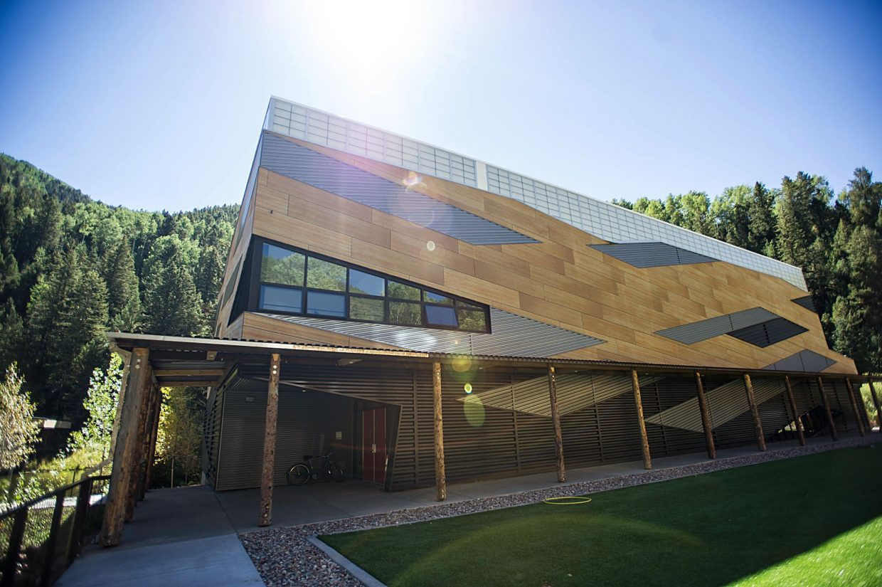 Aspen Country Day School's new campus consits of new classroom buildings, a dining hall, a new gymnasium, a turf field and arts facilities.