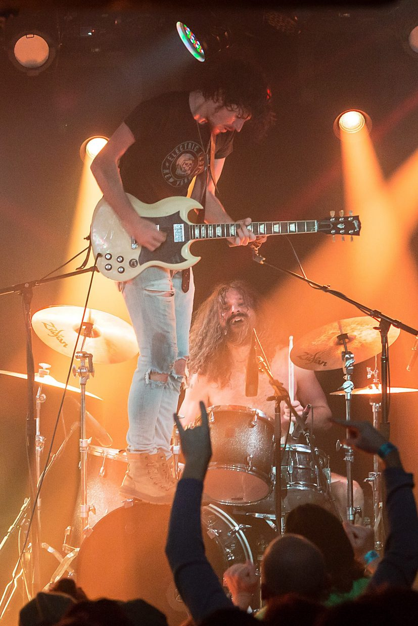 Black Pistol Fire photographed during a concert at Belly Up last year. The band is playing two local shows this week: at Belly Up on Thursday and at the Jazz Aspen Snowmass Labor Day Experience on Saturday.