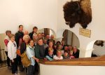 The group from the Roaring Fork Valley along with Garmisch-Partenkirchen City and Sister City officials under the enormous buffalo head that David Stapleton transported to Garmisch-Partenkirchen in 1966 as Aspen's gift for the official Sister City initiation ceremony. It has been a prized possession of Garmisch-Partenkirchen for 50 years.