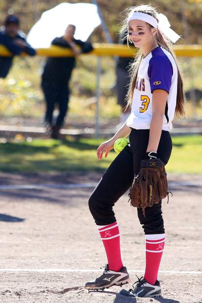 Basalt junior pitcher Morgan Ash waits to pitch against Gunnison on Saturday.
