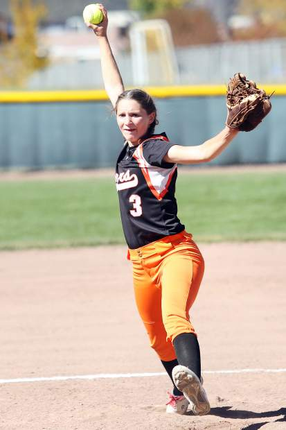 Sterling pitcher Taylor Knudson threw a gem against Basalt in a 14-3 win that gave Sterling the regional title on Saturday.