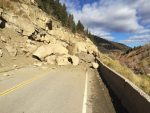 A rockslide north of Paonia closed Highway 133 in both directions Wednesday at milemarker 29.5.