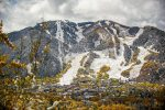 A view of snowy Aspen Mountain from Red Mountain Road on Thursday.