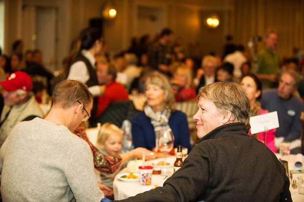 The 9th Annual Community Free Farm-to-Table-Meal hosted at the Hotel Jerome Ballroom by Aspen TREE on Tuesday evening.  Over 200 volunteers and 1000 guests participated in the early Thanksgiving celebration with local chefs preparing locally grown food.