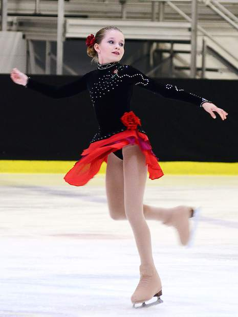 Aspen ice skater Klara Kowar competes in a competition.