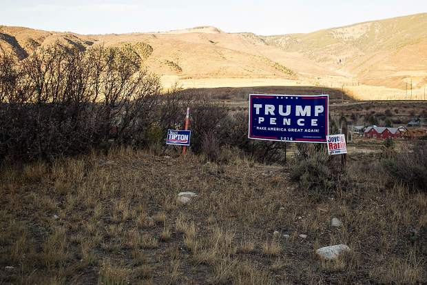 Trump signs off of Highway 82.