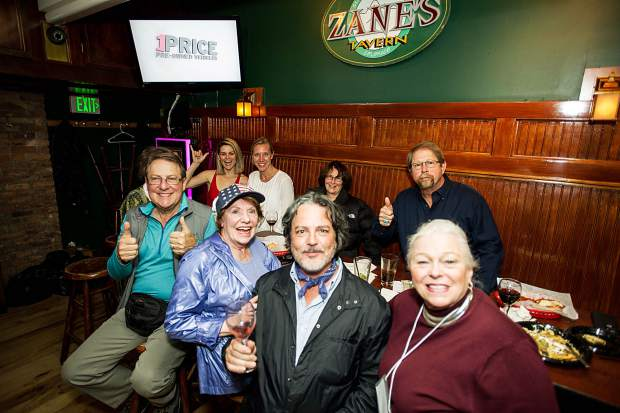 The Aspen Republican Party, including Republican Party Chairman Bob Jenkins enjoy election night at Zane's Tavern.
