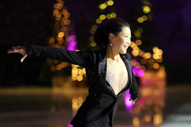 Yuka Sato, an Olympian and two-time Japanese champion, performs Saturday at the Aspen Ice Spectacular at Lewis Ice Arena.
