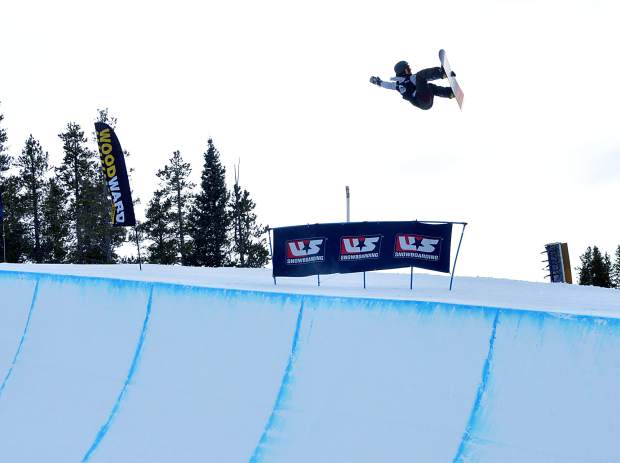 A competitor airs out of the Copper Mountain halfpipe during finals for the first round of men's snowboard competition at the U.S. Revolution Tour in 2015. The event returns to Copper from Dec. 7-10 with a slate of national and international skiers and snowboarders.