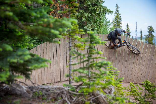 c13e59292b2 A mountain biker ascends the wall ride on Valhalla at Snowmass two weeks  ago. Jeremy Wallace/Snowmass Sun