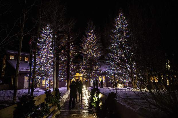 Spectators enjoyed the Light Up the Night celebration at the Snowmass Chapel on Saturday evening.