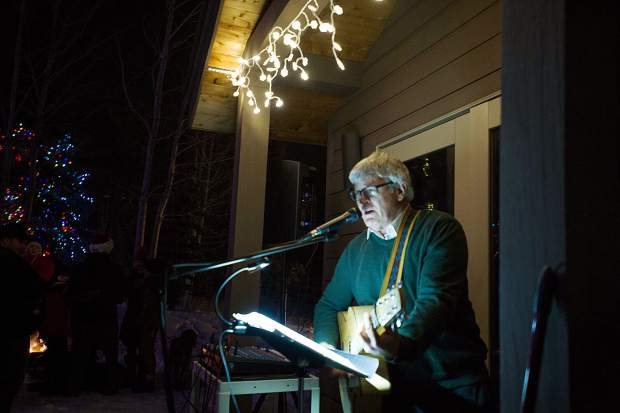 Mack Bailey performs at the Light Up the Night celebration at the Snowmass Chapel on Saturday.