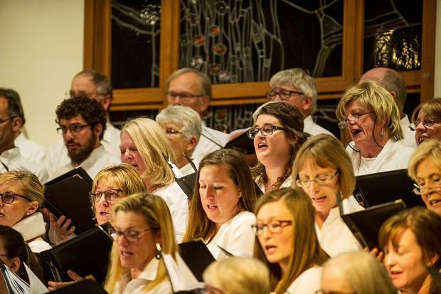 The Messiah choral performance at the Snowmass Chapel on Saturday, December 10.