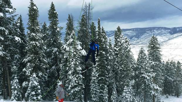 About 80 people were evacuated off the Tiehack Express chairlift today after the lift broke down, Aspen Skiing Co. said.