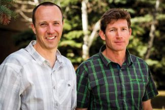 Matt Hamilton (left) and Auden Schendler head Aspen Skiing Co.'s sustainability department. Hamilton helped create the Community Care Fund that will allow Skico workers to support health and human services.