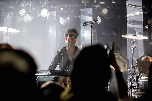 Electro-funk band Chromeo performing at their sold-out show Friday night at The Belly Up. They also performed the night of New Year's Eve.