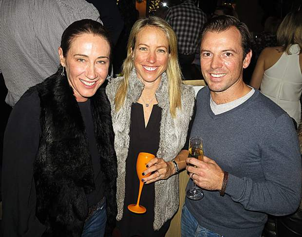Edwina McCann, editor in chief of Vogue Australia, at an apres event she co-hosted with friends Wally Graham and James Rowden.