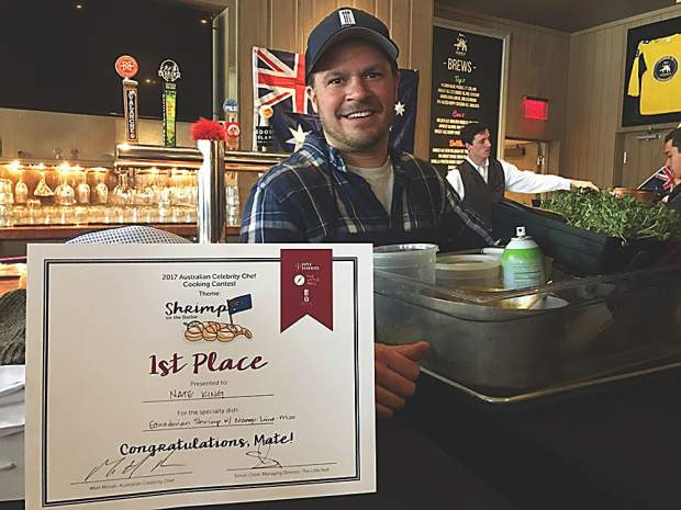 Nate King, chef de cuisine at Cache Cache, clinched first place in the Australian Celebrity Chef Cooking Contest on Jan. 10.